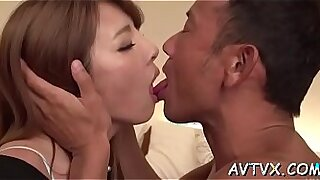 Japanese slut scene spooning with craves, puns and cocks