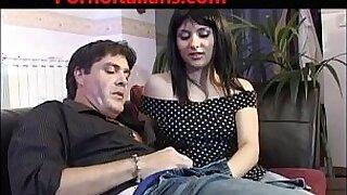 Italian slut porn feeds lover