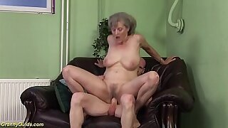 Freaky granny fucked by big cock