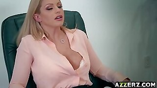 Horny GONEED office blonde Alexpey is banged after a night of work