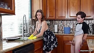 Step son brings mom new steaming