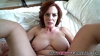 Busty milf pleasures step son