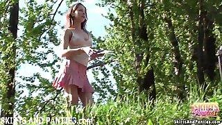 Watch fortissa flash her Yoga panties