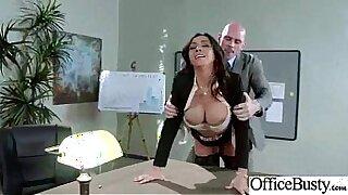 Povperor Brandi Takei fucks a guy she just met in the office