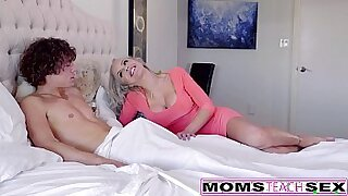 Threesome caught on video with cute blonde