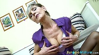 Bigtitted Granny gets solo work