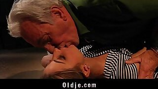 Young blonde teen cuck lab rock full