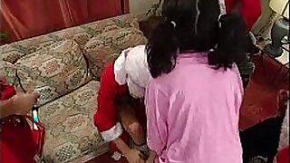 Alex Scissor Christmas all over Tricky Mones knees
